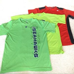 Neon L/XL Tee Bundle (Nike/Under Armour/Seahawks)